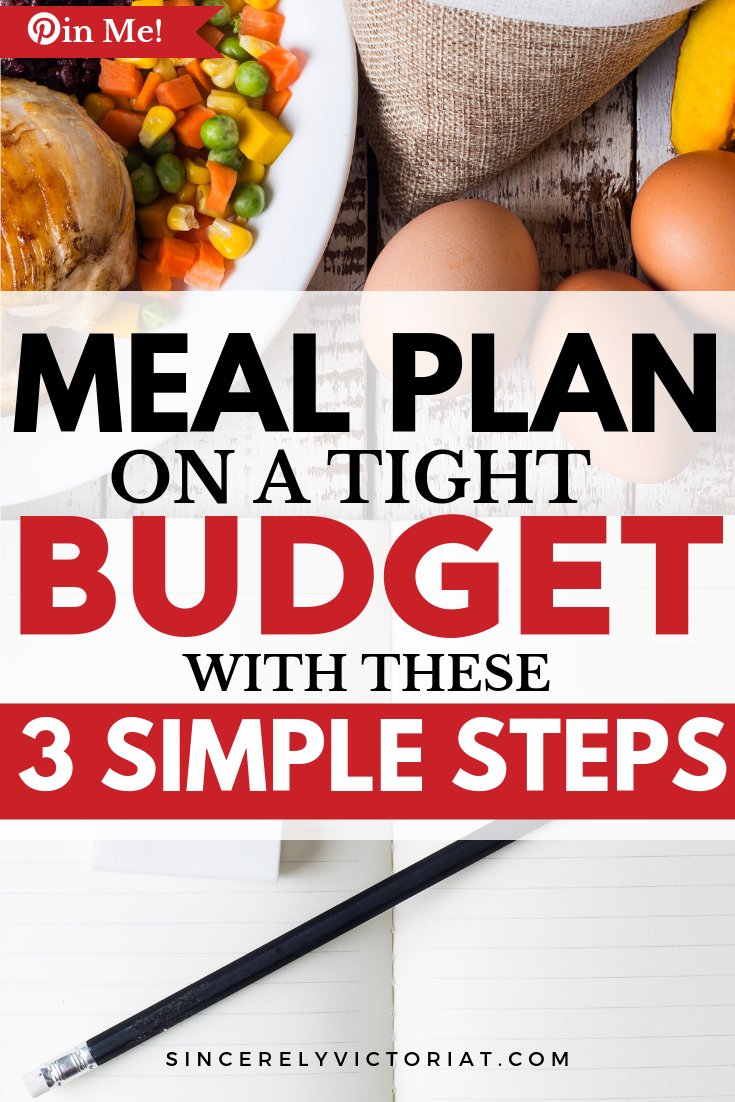 meal plan on a budget to save time and money