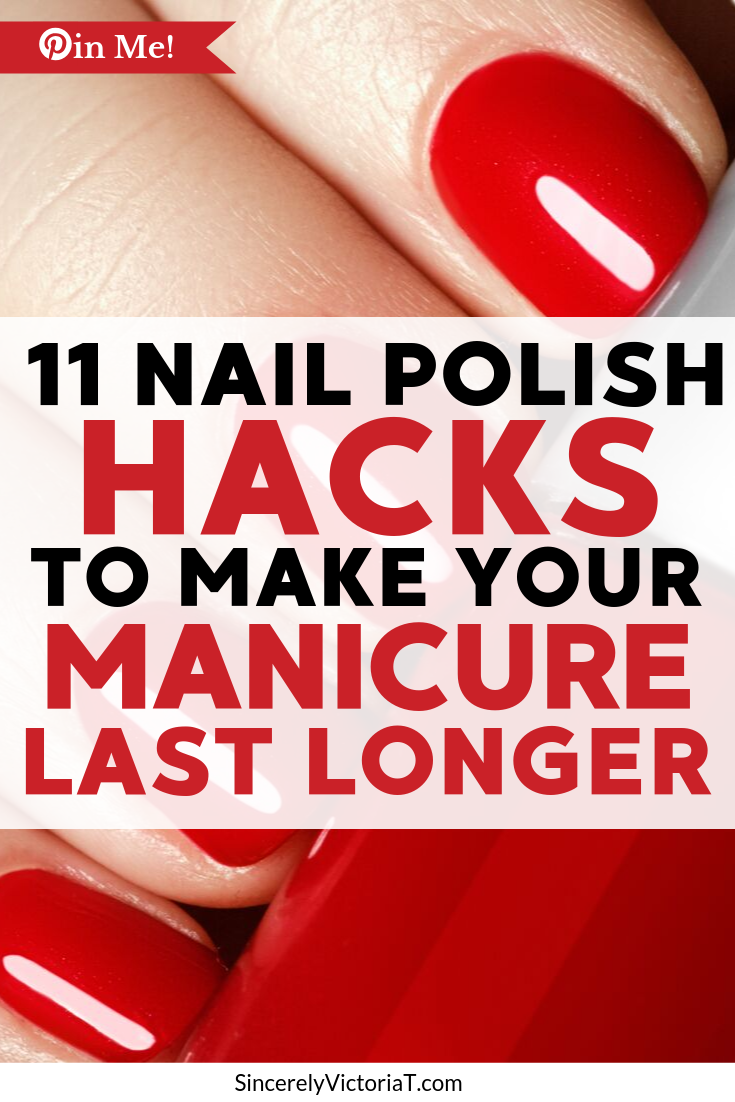 If you don't have the time or budget to make it to the nail salon, you can achieve a gorgeous manicure at home! Here are a few simple hacks to help make your manicure last longer. | @victoriatiffny www.SincerelyVictoriaT.com Follow for Motherhood, Lifestyle, and Wellness Tips! #nails #nailartist #nailpolish #naildesigns