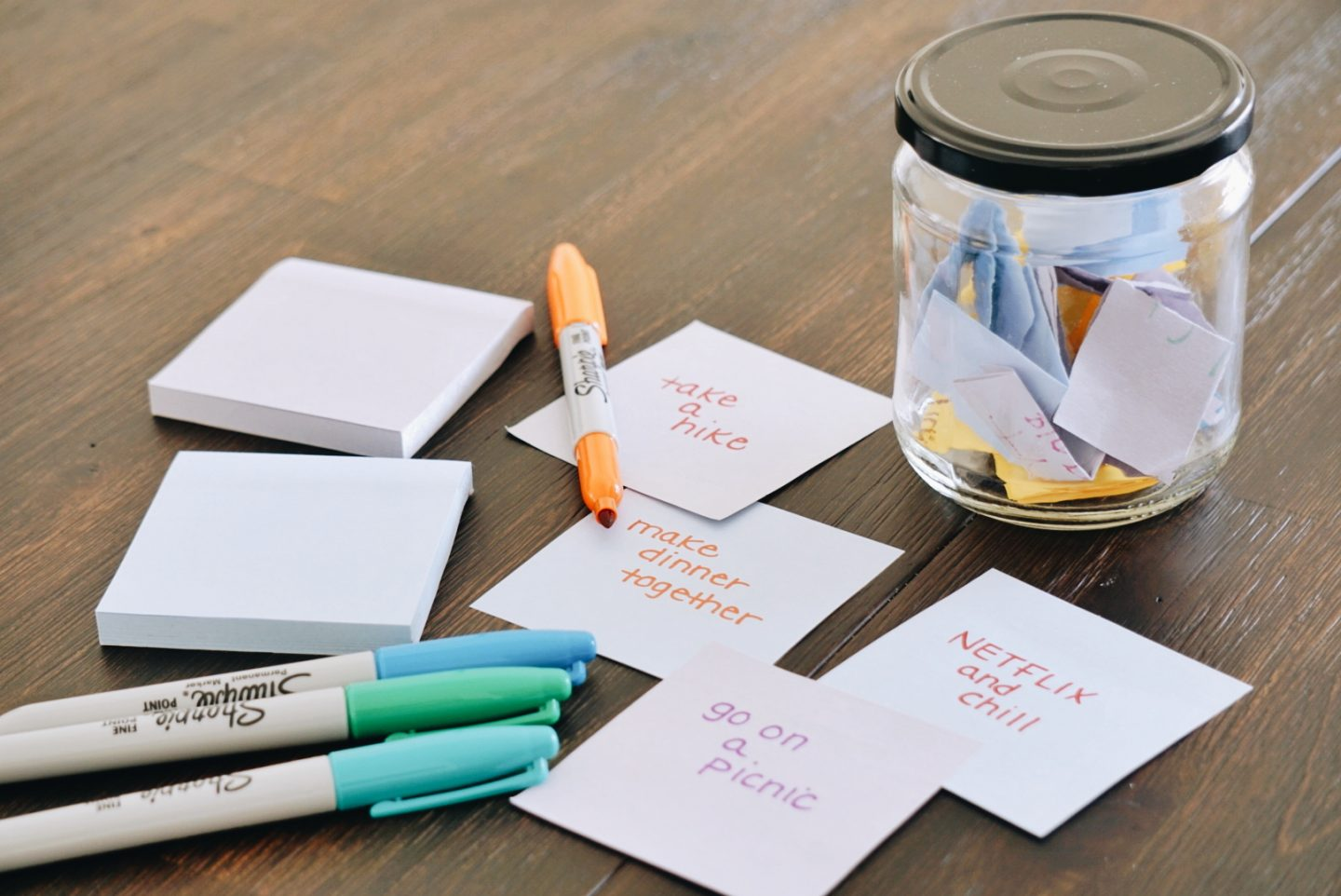 date night in a jar diy project for married couples