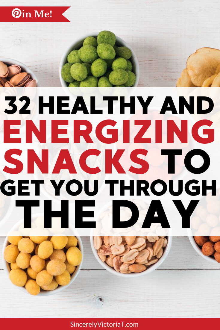 Try these healthy and energizing snacks to keep you going throughout the day! | @VictoriaTiffny SincerelyVictoriaT.com Lifestyle, Motherhood, and Wellness Blog