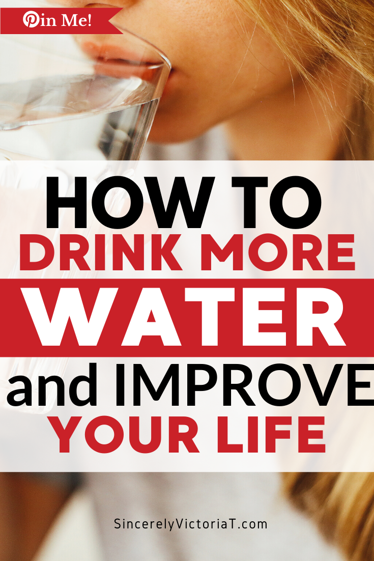 As a busy mom with a long list of responsibilities, staying hydrated is imperative to your well-being. Here's how to drink more water and improve your life. SincerelyVictoriaT.com