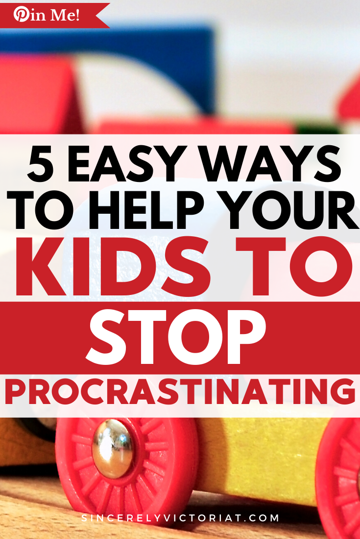 If you notice your child procrastinating, now is the best time to pinpoint the problem. Help your child stop procrastinating with these easy tips.