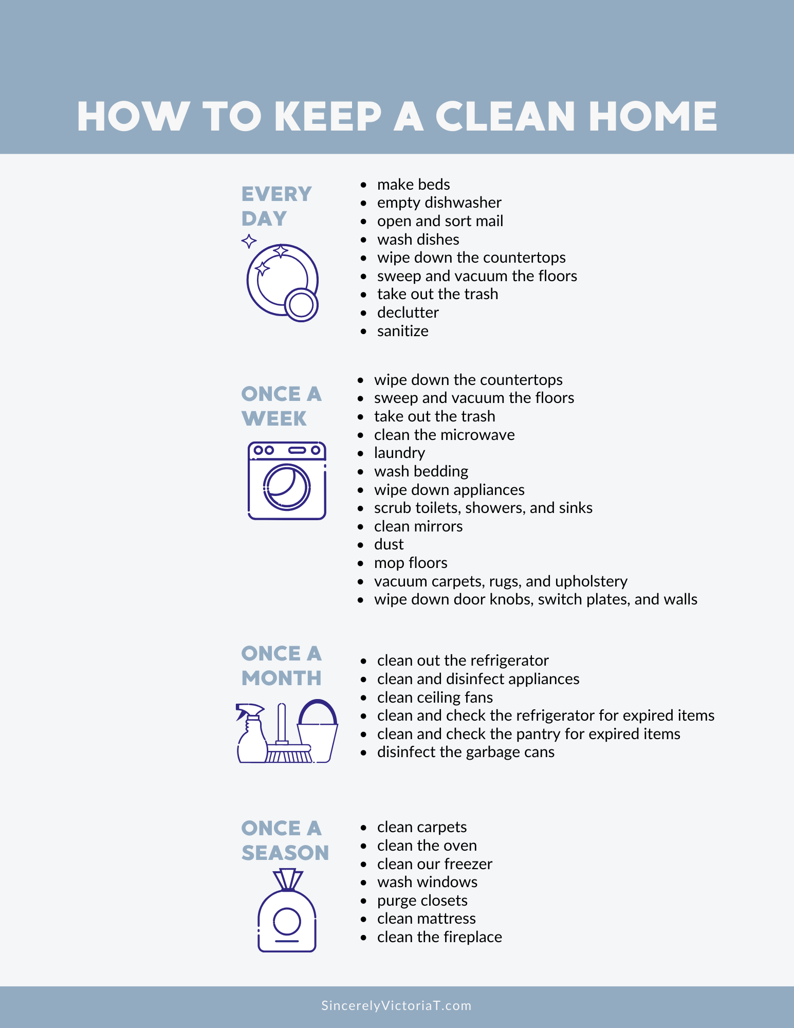 As a mom, I have learned easy ways to minimize the mess and reduce my stress. To keep a tidy home, practice these daily habits to keep your house clean.