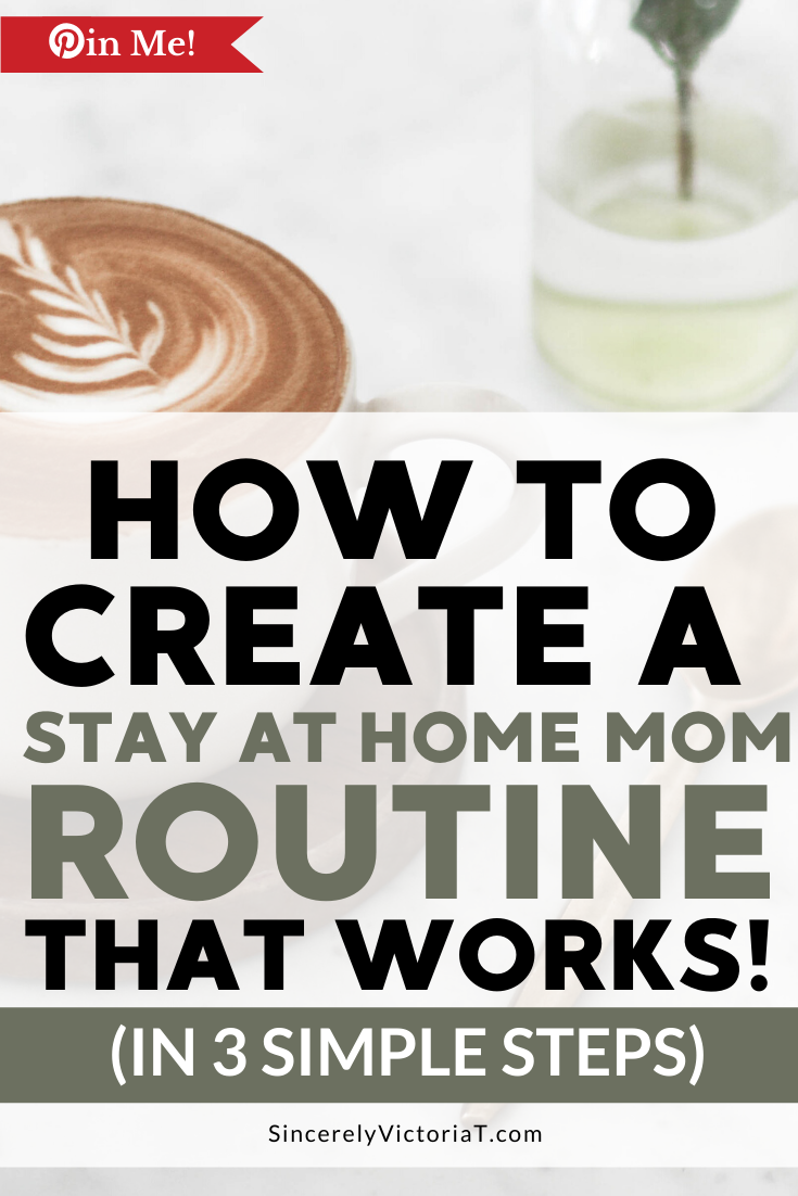Daily routines and schedules can help you to manage your time and home. Here is the simple 3-step process I use to create daily routines that actually work. SincerelyVictoriaT.com/blog