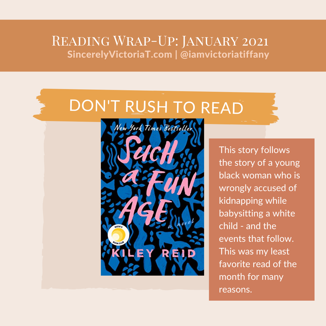 Such a Fun Age Sincerely Victoria Tiffany SincerelyVictoriaT.com Book Reads Favorites of January 2021